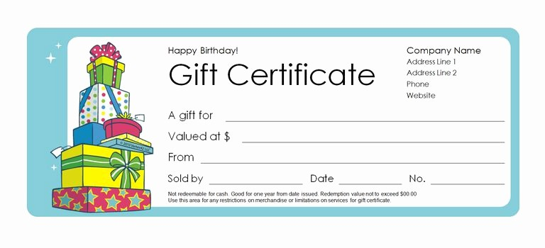 Microsoft Word Gift Card Template Lovely 173 Free Gift Certificate Templates You Can Customize