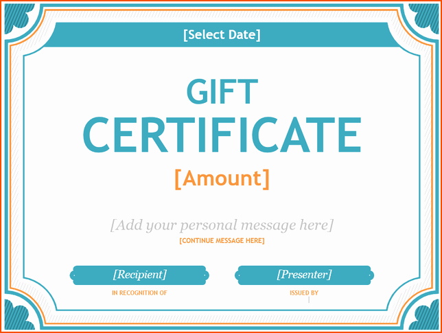 Microsoft Word Gift Card Template Luxury 7 Ms Word Certificate Template Bookletemplate