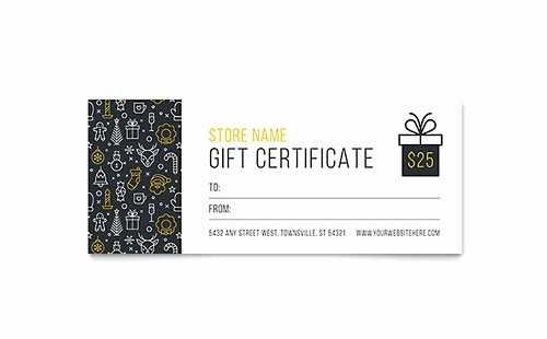 Microsoft Word Gift Card Template Luxury Gift Certificate Templates Microsoft Word & Publisher