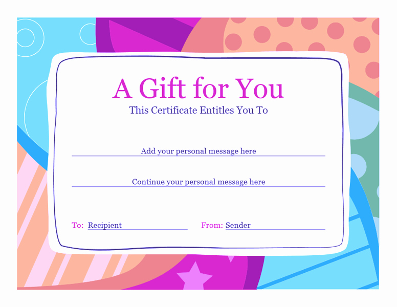 Microsoft Word Gift Card Template New Download Gift Certificate Template Word 2010 Free