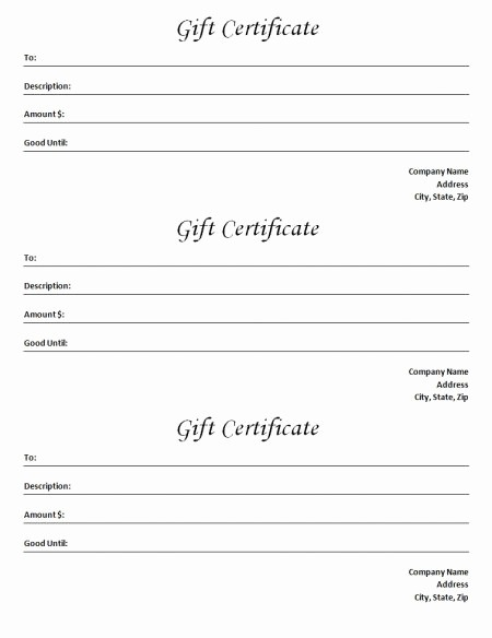 Microsoft Word Gift Card Template New Gift Certificate Template Blank Microsoft Word Document