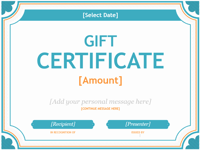 Microsoft Word Gift Card Template Unique 20 Printable Gift Certificates
