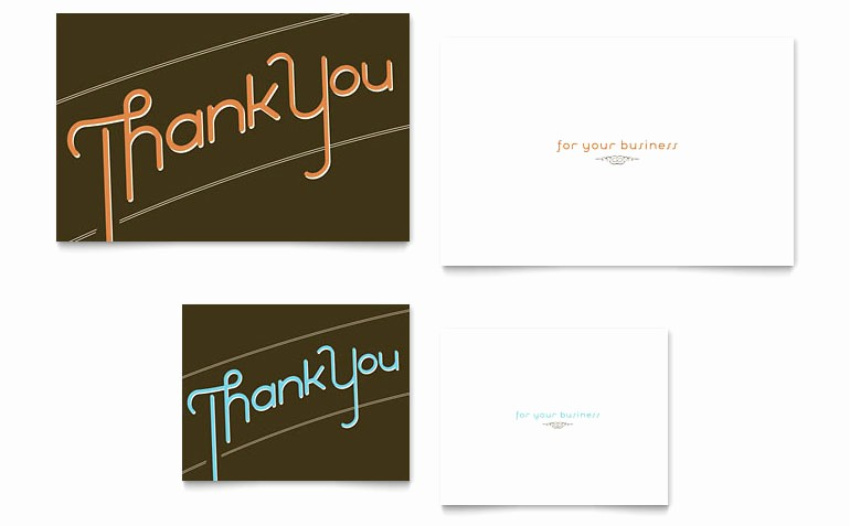 Microsoft Word Greeting Card Template Fresh Thank You Note Card Template Word & Publisher