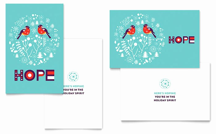 Microsoft Word Greeting Card Template Inspirational Hope Greeting Card Template Word & Publisher