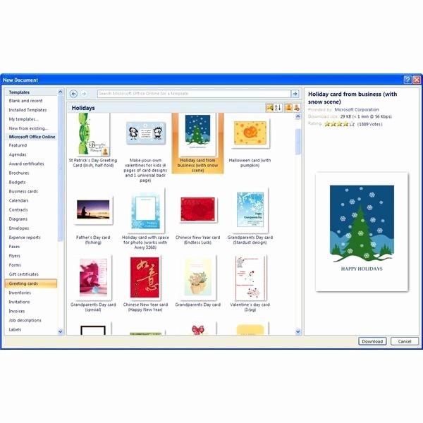 Microsoft Word Greeting Card Template Unique Microsoft Fice Templates
