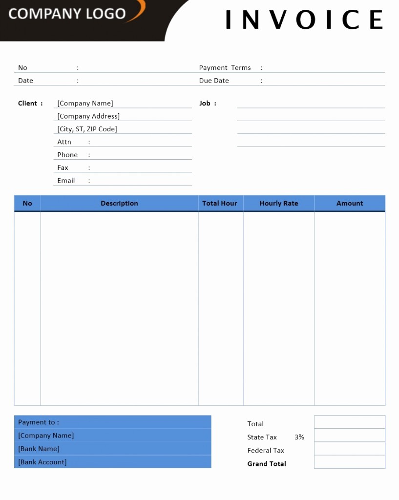 Microsoft Word Invoice Templates Free Lovely Microsoft Fice Billing Invoice Templates Free