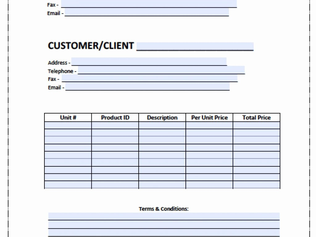 Microsoft Word Invoice Templates Free Lovely Simple Blank Word Invoice Template Free Billing Microsoft