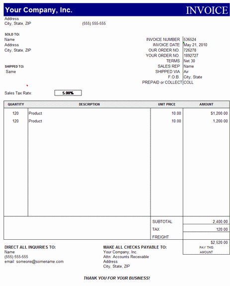 Microsoft Word Invoice Templates Free New Invoice Template Excel Free