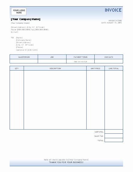 Microsoft Word Invoice Templates Free Unique Invoice Template Invoices