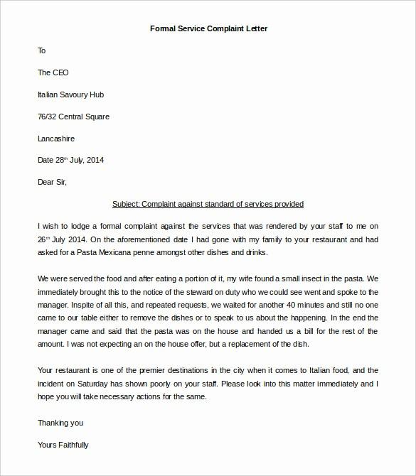 Microsoft Word Legal Complaint Template Beautiful Pin formal Plaint Letter On Pinterest