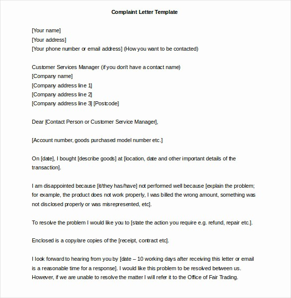 Microsoft Word Legal Complaint Template Inspirational 26 Word Letter Templates Free Download