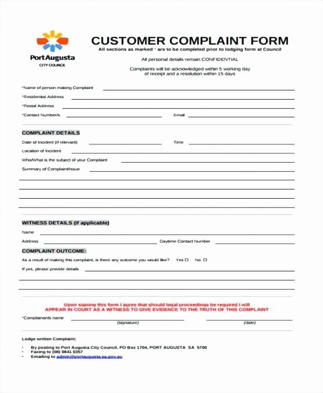 Microsoft Word Legal Complaint Template Lovely Free Legal Plaint form Template Hr Workplace Employee