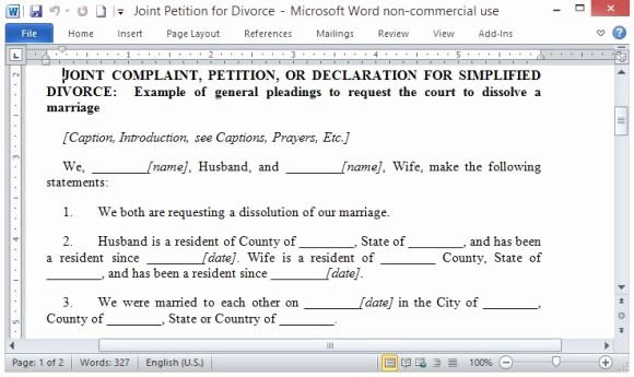 Microsoft Word Legal Complaint Template Luxury Free Petition Template for Word