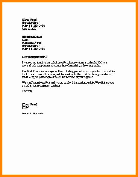 Microsoft Word Legal Complaint Template Unique 9 Microsoft Word Plaint Letter Template