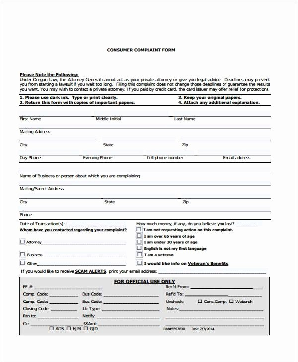 Microsoft Word Legal Complaint Template Unique Sample Legal Plaint forms 7 Free Documents In Word Pdf