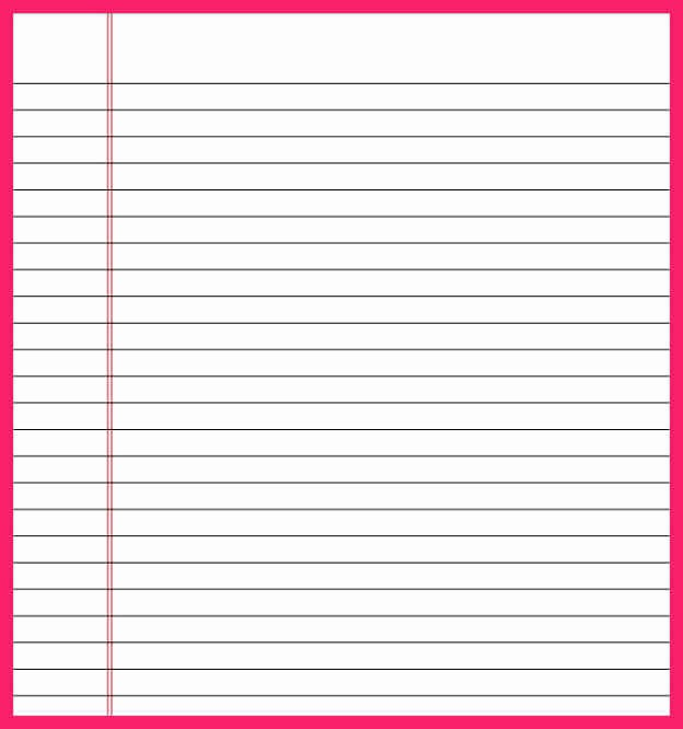 Microsoft Word Lined Paper Template Beautiful Lined Paper Template Word