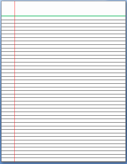Microsoft Word Lined Paper Template Best Of 7 Best Of Printable Lined Column Paper Template