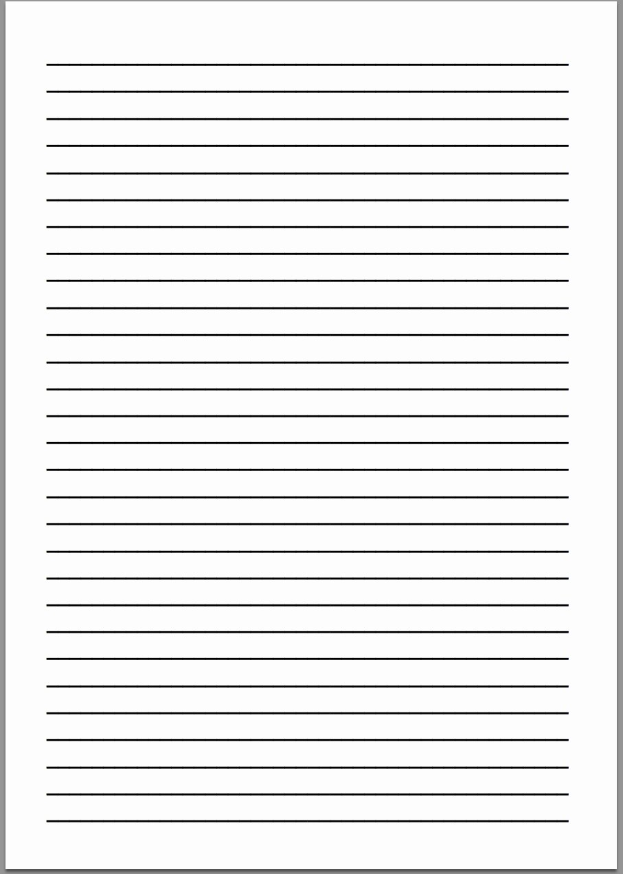 Microsoft Word Lined Paper Template Elegant Lined Letter Template