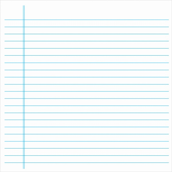 Microsoft Word Lined Paper Template Unique Blank Lined Paper