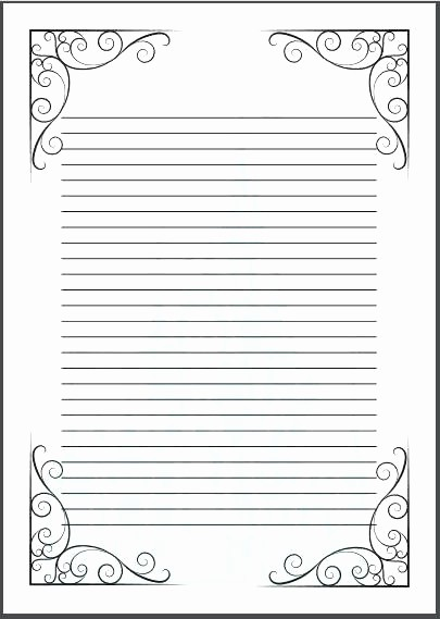 Microsoft Word Lined Paper Template Luxury A4 Wide Lined Paper Template Primary Inside with Lines for