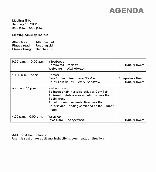 Microsoft Word Meeting Agenda Template Beautiful Agenda Wizard Template Microsoft Word Template