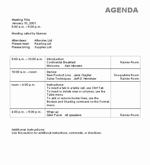 Microsoft Word Meeting Agenda Template Beautiful Agenda Wizard Template Microsoft Word Template