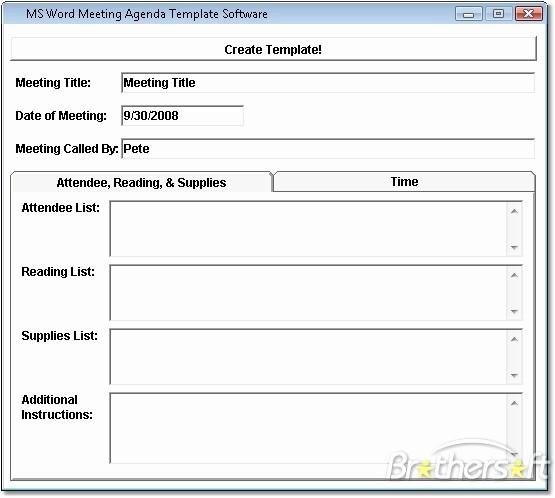 Microsoft Word Meeting Agenda Template Best Of 10 Best Of Meeting Minutes Template Word 2010