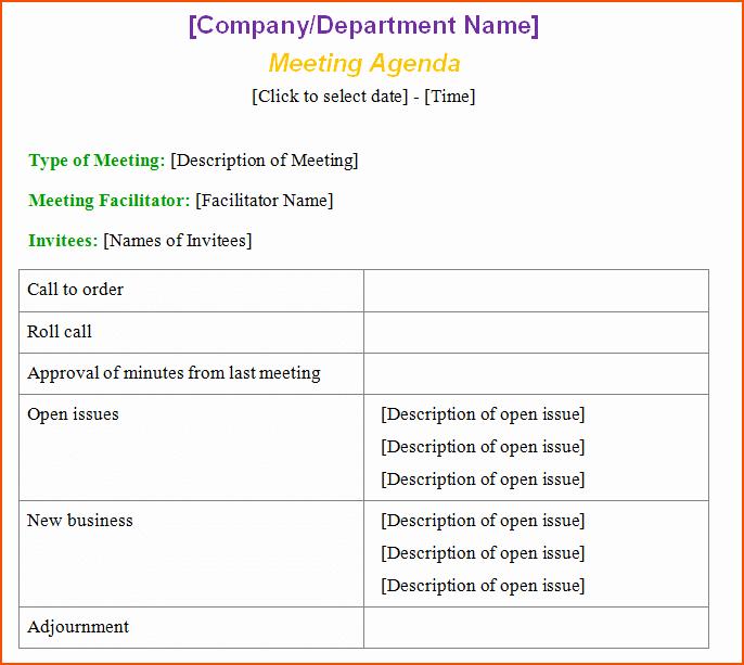 Microsoft Word Meeting Agenda Template Best Of 6 Microsoft Word Agenda Template Bookletemplate