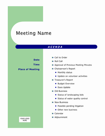 Microsoft Word Meeting Agenda Template Inspirational Agenda Templates
