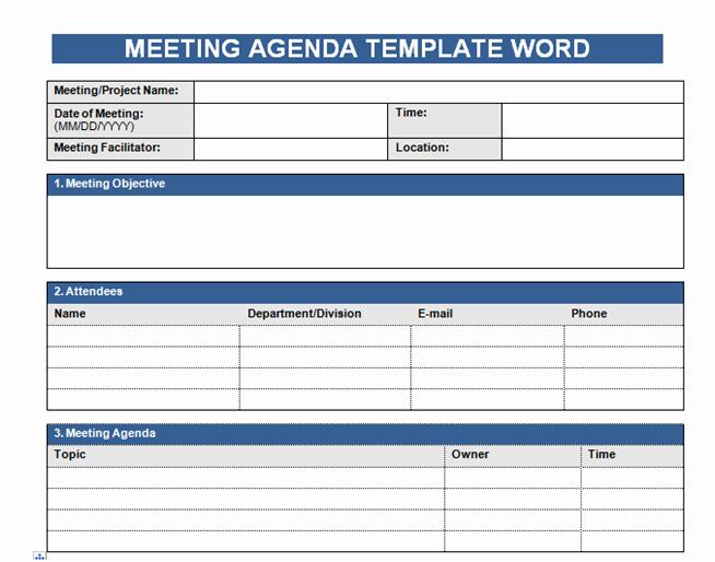 Microsoft Word Meeting Agenda Template Luxury Get Free Meeting Agenda Template In Word