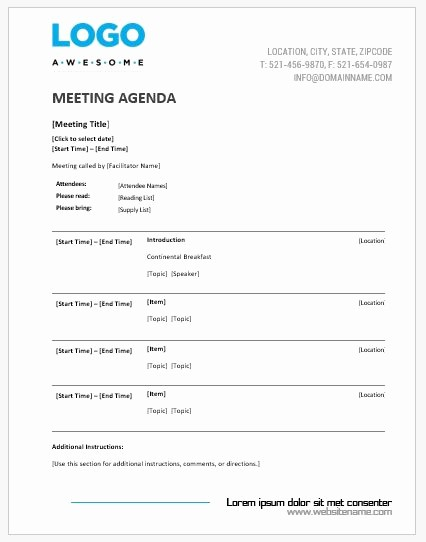 Microsoft Word Meeting Agenda Template Luxury Meeting Agenda Templates Ms Word