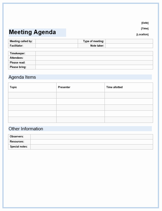 Microsoft Word Meeting Agenda Template New Fice Meeting Agenda Template Microsoft Word Templates