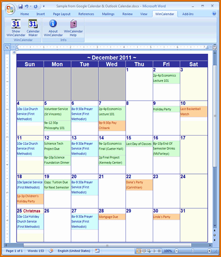 Microsoft Word Monthly Calendar Template Inspirational 13 Calendar Template Microsoft Word