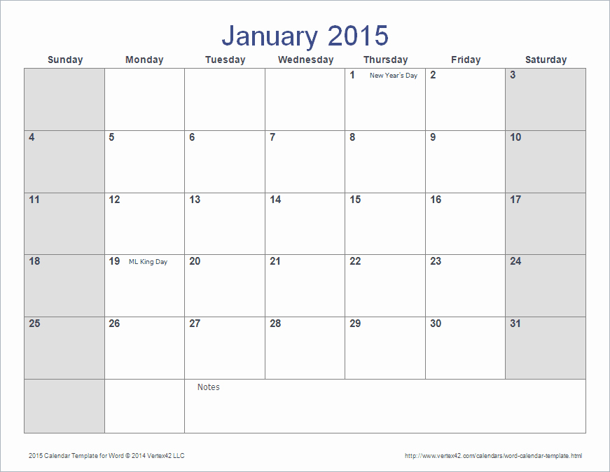 Microsoft Word Monthly Calendar Template Inspirational 2015 Monthly Calendar Template Word