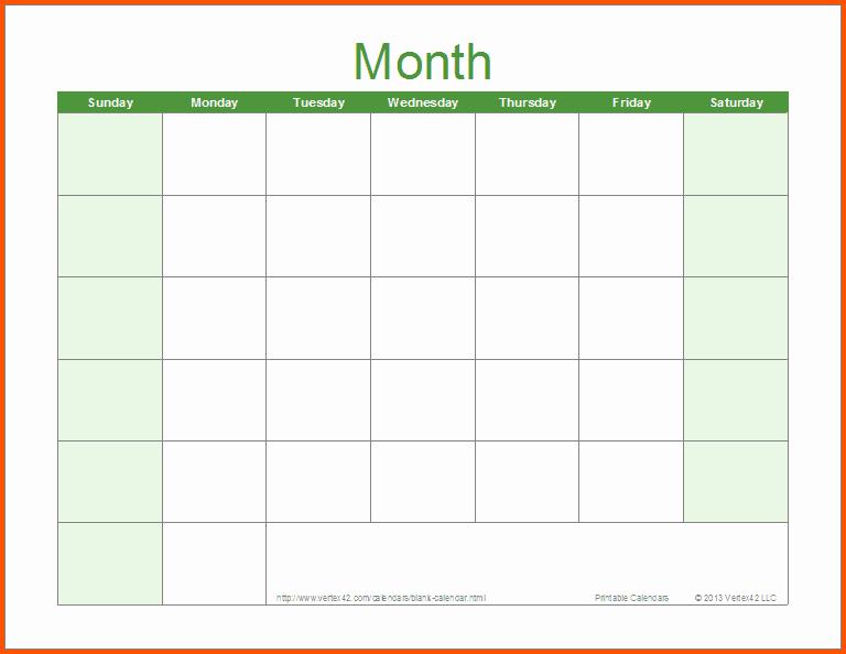 Microsoft Word Monthly Calendar Template New Word Calendar Sample