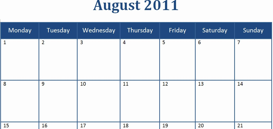 Microsoft Word Monthly Calendar Template Unique 20 Microsoft Blank Calendar Template Microsoft