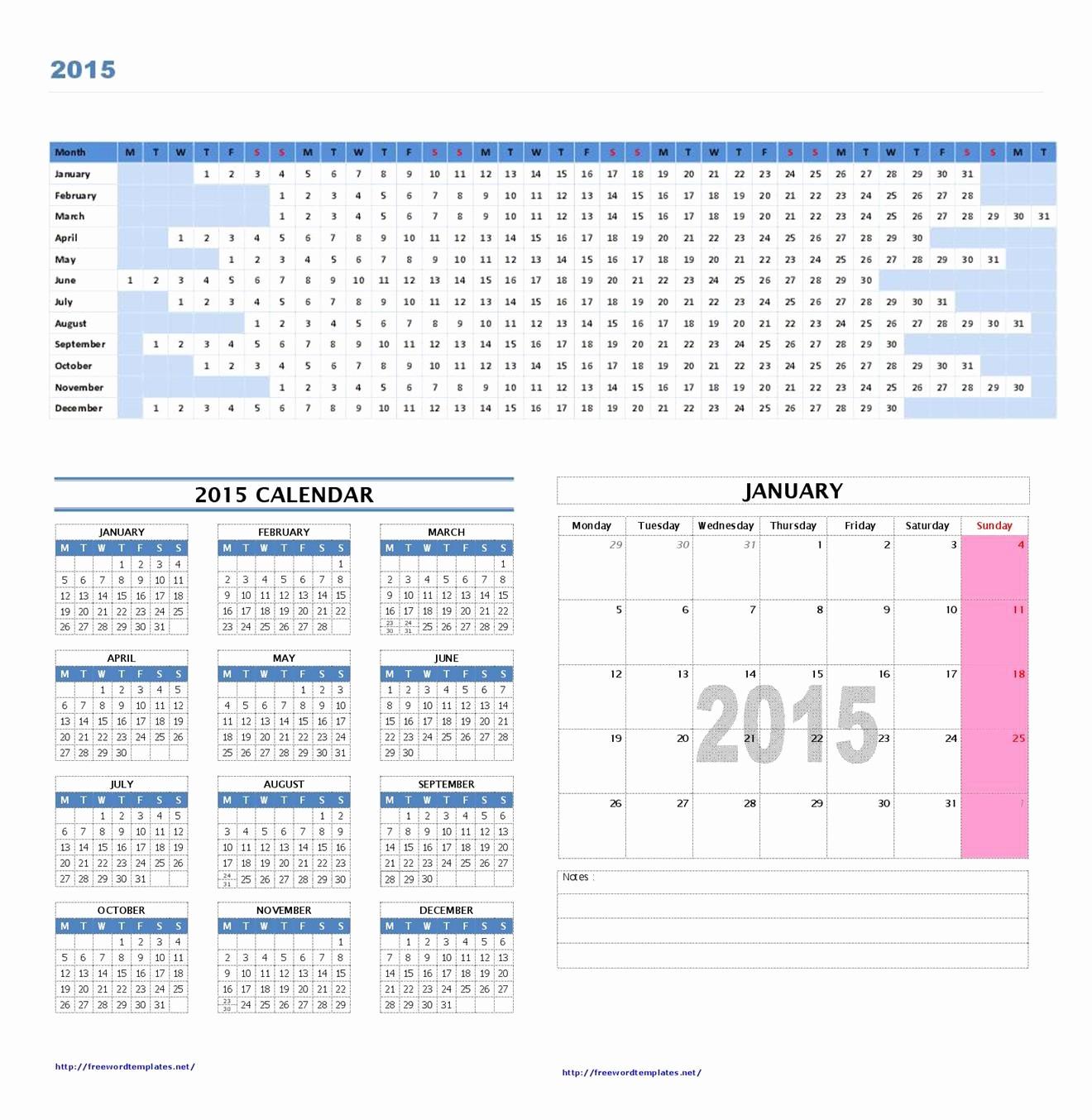 Microsoft Word Monthly Calendar Template Unique 2015 Calendar Template Microsoft Word