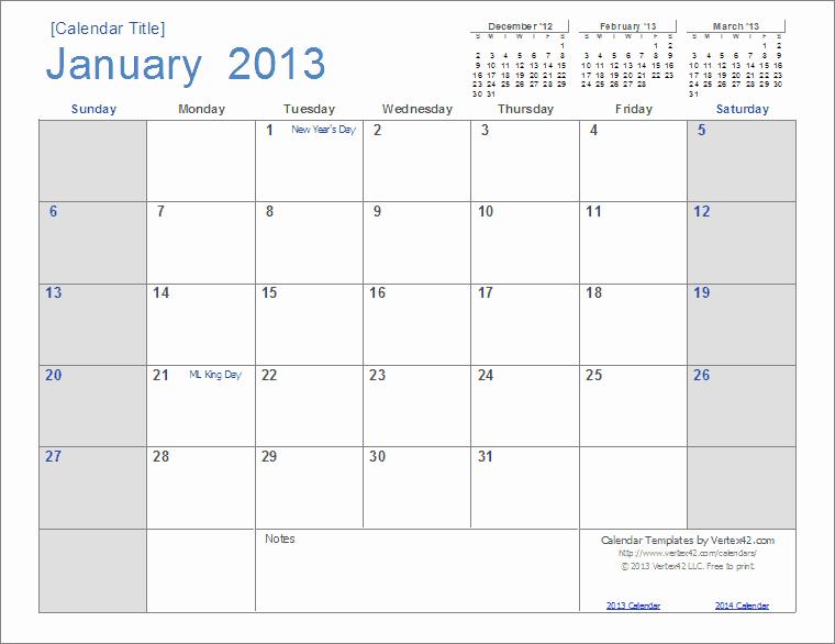 Microsoft Word Monthly Calendar Template Unique Best S Of Open Fice Calendar Template 2013 2013