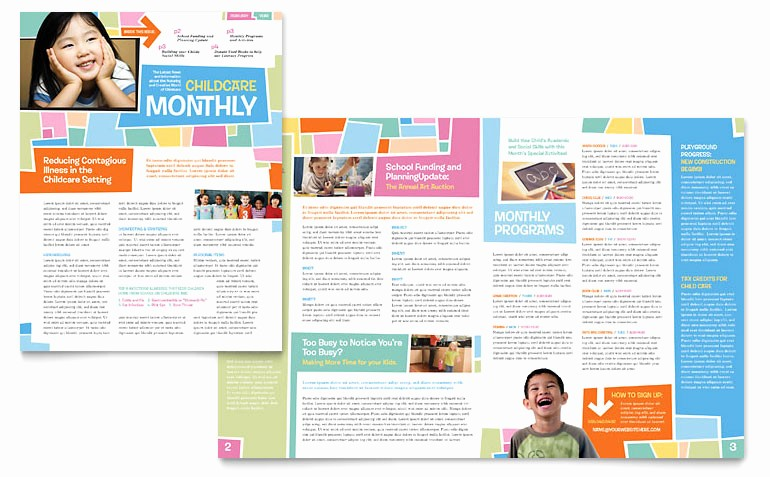 Microsoft Word Newsletter Template Free Awesome Preschool Kids & Day Care Newsletter Template Word
