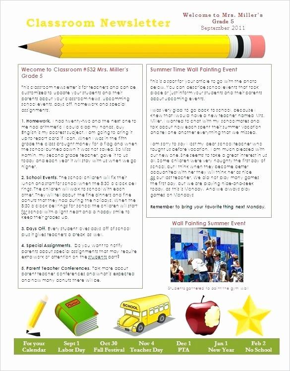 Microsoft Word Newsletter Template Free Fresh Spring Preschool Newsletter Template the Crafty Teacher