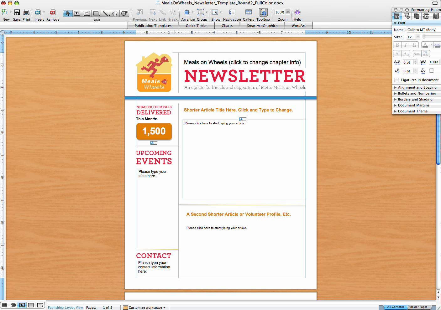 Microsoft Word Newsletter Template Free Inspirational Microsoft Word Newsletter Templates