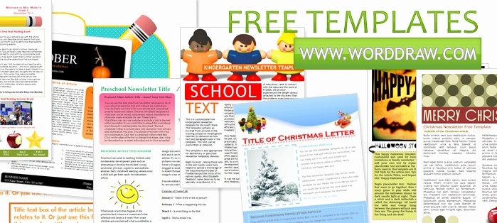 Microsoft Word Newsletter Template Free Inspirational Worddraw Free Newsletter Templates for Microsoft Word