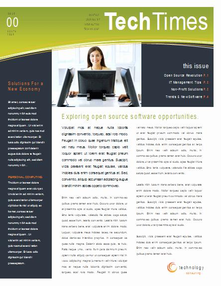 Microsoft Word Newsletter Template Free Lovely Newsletter Templates Word