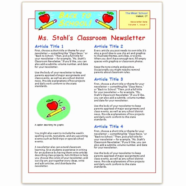 Microsoft Word Newsletter Template Free Lovely where to Find Free Church Newsletters Templates for