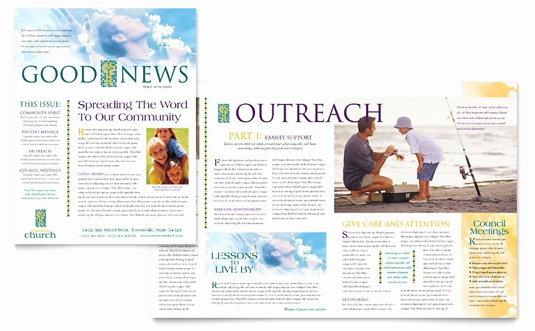 Microsoft Word Newsletter Template Free Unique Christian Church Newsletter Template Word & Publisher
