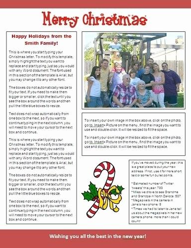 Microsoft Word Newsletter Templates Free Beautiful Free Christmas Newsletter Templates for Word