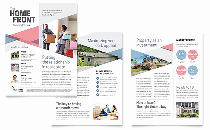Microsoft Word Newsletter Templates Free Best Of Realtor Newsletter Template Word & Publisher