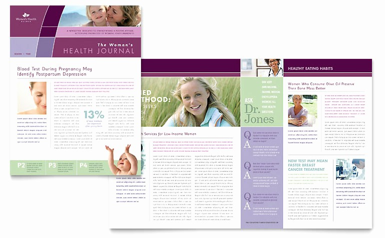 Microsoft Word Newsletter Templates Free Best Of Women's Health Clinic Newsletter Template Word & Publisher