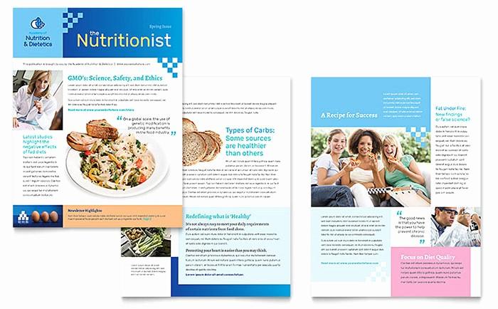 Microsoft Word Newsletter Templates Free Luxury Dietitian Newsletter Template Word & Publisher