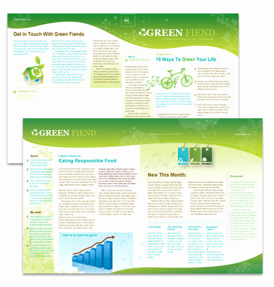 Microsoft Word Newsletter Templates Free Unique Eco Business Newsletter Template